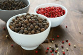 Mixed peppercorns in a bowls — Stock Photo