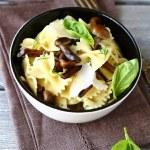 Tasty pasta farfalle with mushrooms — Stock Photo #58190885