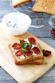 Italian bruschetta with sun-dried tomatoes — Stock Photo