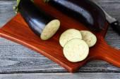 Pieces of sliced eggplant — Stock Photo