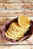 Crispy wafers on a napkin — Stock Photo