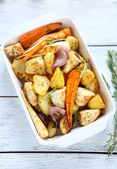Delicious roasted vegetables — Stock Photo