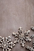 openwork Christmas artificial snowflake — Stock Photo