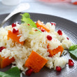 Rice with pieces of pumpkin — Stock Photo #62437157