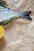 Fish tail with rosemary and lemon — Foto Stock