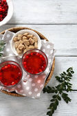 Cranberry tea with sugar — Stock Photo