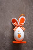 Red Easter bunny on a slate background — Stock Photo