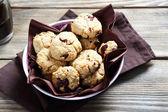 Nourishing  cookies in  bowl — Stock Photo