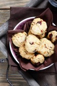 Crispy cookies with cranberries — Foto Stock