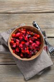 Vinaigrette in a bowl — Stock Photo
