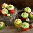 Set of Easter cupcakes — Stock Photo #63193457