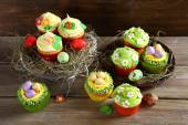 Set of Easter cupcakes — Stock Photo