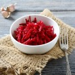 Grated beet salad in a bowl — Stock Photo #63962077