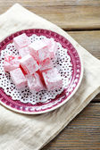 Sweet Eastern sweets on a plate — Stock Photo