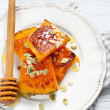 Delicious baked slices of pumpkin — Stock Photo #67565795