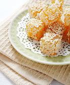 Orange sweetness on a plate — Stock Photo
