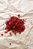 Paprika on kraft paper — Stock Photo