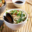 Japanese noodles with seafood — Stock Photo #68228403