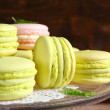 Two kinds of macaroon on  plate — Stock Photo #69841199