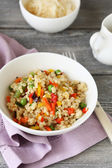 Cous cous with nutritious vegetables — Stock Photo