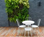 Outdoor coffee table — Stock Photo