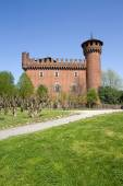 Castle of the medieval town, Turin, Italy — Stock Photo
