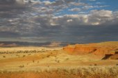 Namibian landscape at the sunset — Stock Photo
