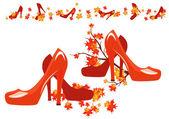 Sonbahar ayakkabı — Stok Vektör