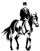Dressage — Stock Vector