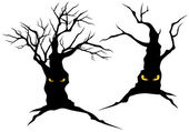 Creepy monster trees — Stock Vector