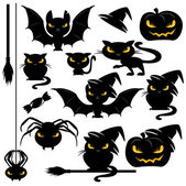 Halloween monster set — Stok Vektör