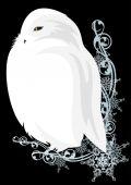 White owl — Stockvektor