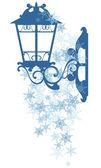 Winter street light — Stock Vector