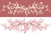 Spring cherry tree decor — Stock Vector