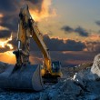 Excavator in Stone Quarry — Stock Photo #52190055