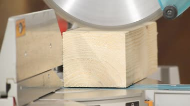 Carpenter workshop - circular saw 2 — Wideo stockowe