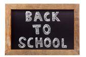 Back to school chalk writing — Stock Photo