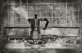 A smoldering coffe — Stock Photo