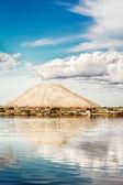 Mountain of salt at the salt pans of Marsala (Italy) — Stock Photo