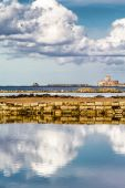 Seascape from the salt mines of Nubia, Trapani (Italy) — Stock Photo