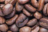 Background of big roasted coffee beans — Stock Photo