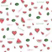 Watercolor watermelon pattern. — Stock Vector