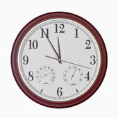 Quartz wall clock with hygrometer and thermometer — Foto de Stock