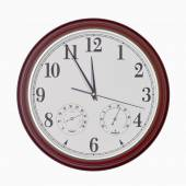 Quartz wall clock with hygrometer and thermometer — Foto Stock