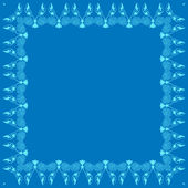 Vector decorative frame on blue background — Stockvektor