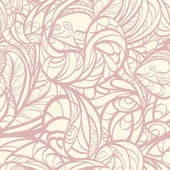 Pink hand drawn floral seamless.  — Wektor stockowy