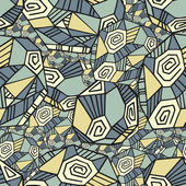 Abstract Seamless Pattern With Polygons — Wektor stockowy