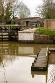 River medway yalding near maidstone kent — Stock Photo