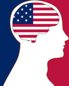 USA in my mind — Stock Photo