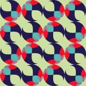Naadloze achtergrond met abstracte geometrische vormen — Stockvector